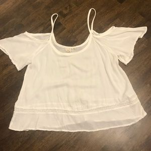 LA Hearts Boho Cold Shoulder Crop Top-Size medium